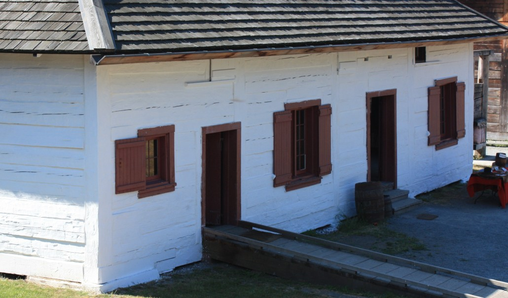 Fur trade building at Fort Langley