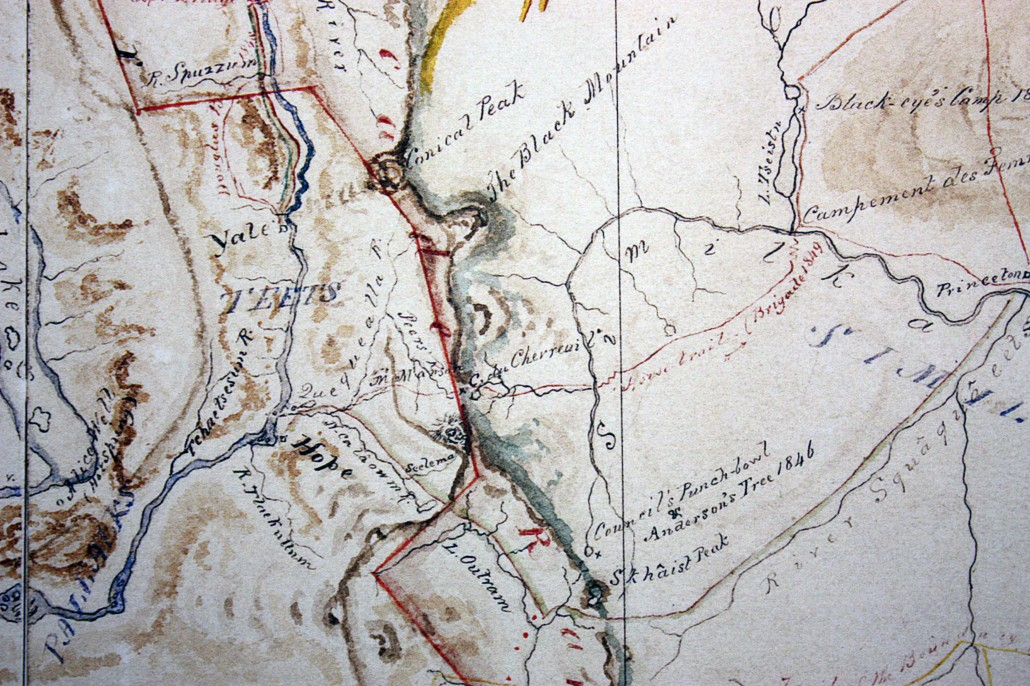 Coquihalla Mountain from Anderson's 1867 Map