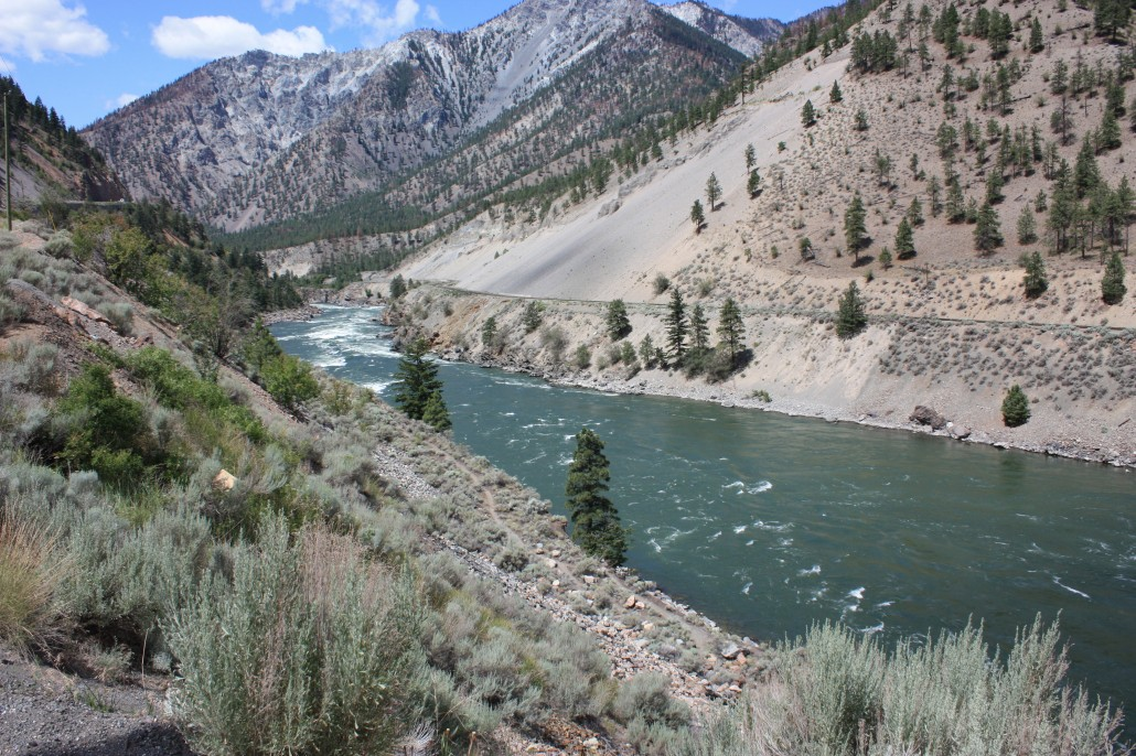 The rapid-filled Thompson River