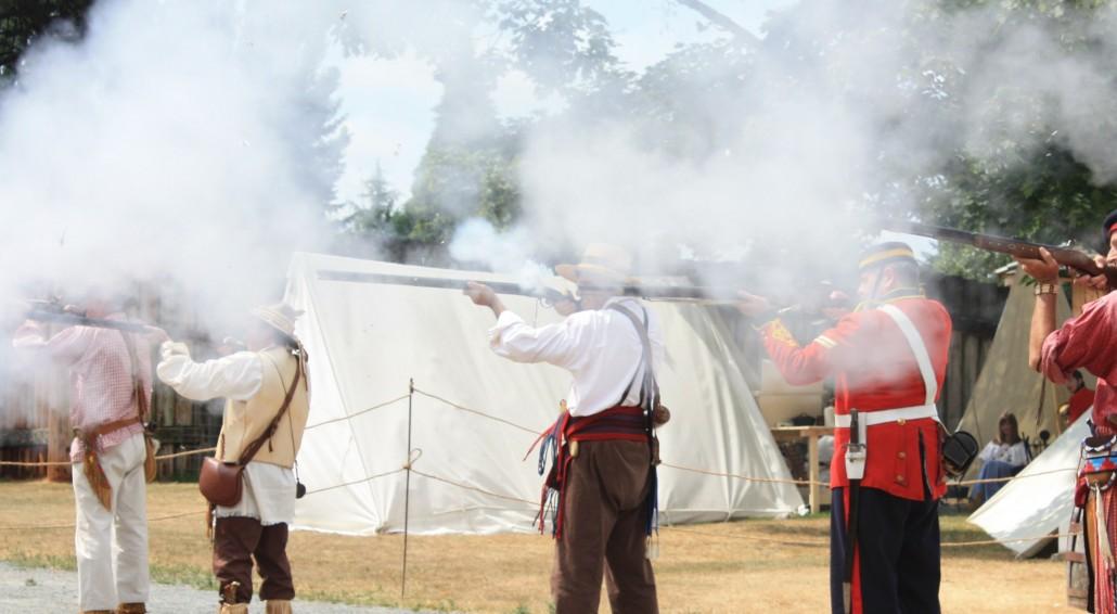 Flintlock Guns, Fort Langley