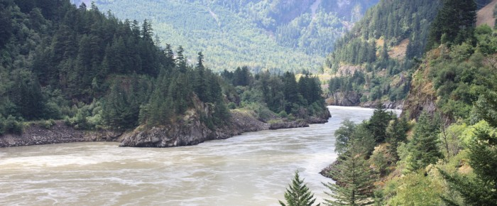 Two Canoes Through the Fraser Canyon