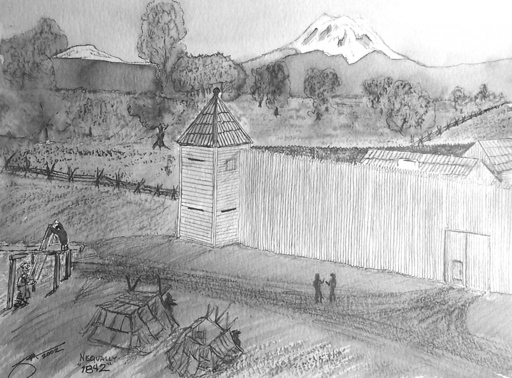 Fort Nisqually drawing