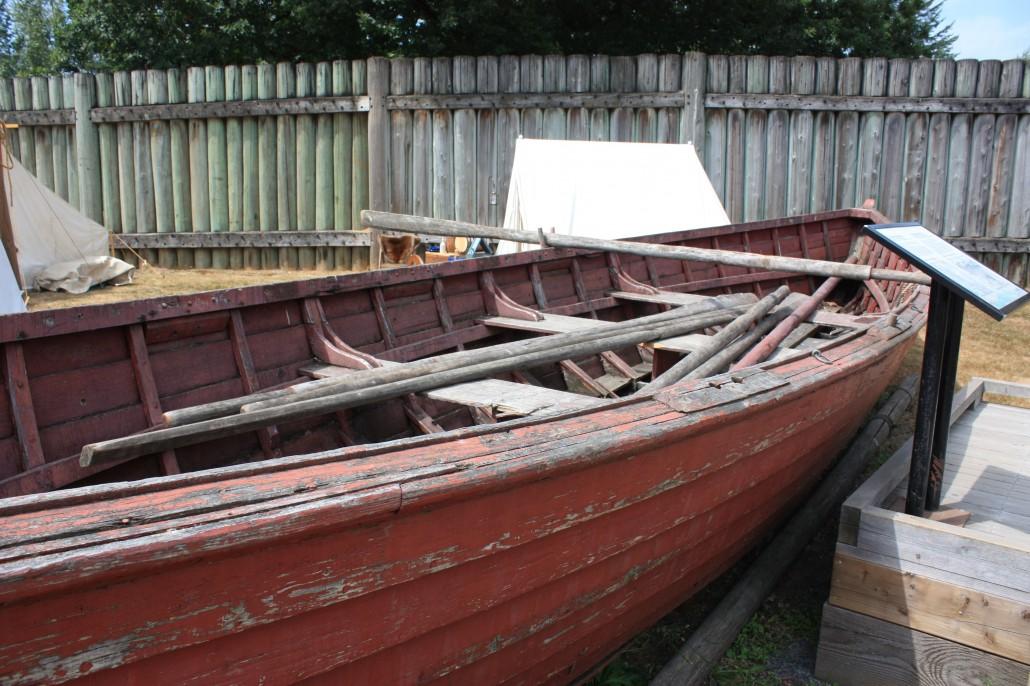Clinker built boat used on the Fraser River