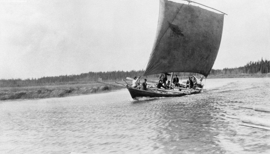 A York Boat under sail